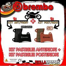 BRPADS-28090 KIT PASTIGLIE FRENO BREMBO PETERSON HURRICANE 1995- 50CC [ORGANIC+SD] ANT + POST