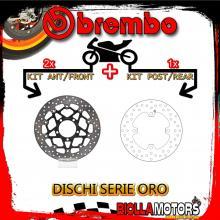 BRDISC-4023 KIT DISCHI FRENO BREMBO KAWASAKI ZX 10 R 2008-2015 1000CC [ANTERIORE+POSTERIORE] [FLOTTANTE/FISSO]
