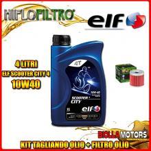 KIT TAGLIANDO 4LT OLIO ELF CITY 10W40 KAWASAKI KFX400 KSF400 400CC 2003-2006 + FILTRO OLIO HF139