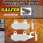 FD145G1054 PASTIGLIE FRENO GALFER ORGANICHE POSTERIORI DAELIM S3 250 Fi ADVANCE 12-