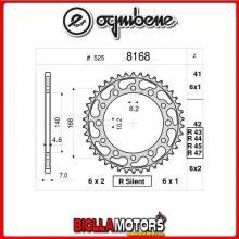 368168R44 CORONA TRASMISSIONE 44 PASSO 525 BMW F 800 R ( K-73 ) 2009-2014 800CC