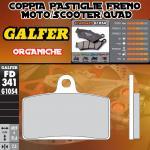 FD341G1054 PASTIGLIE FRENO GALFER ORGANICHE ANTERIORI DERBI MULHACEN CAFÉ 125 08-