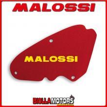 1416571 SPUGNA FILTRO ARIA MALOSSI PIAGGIO NEW FLY 3V 125 IE 4T EURO 3 2012-> RED SPONGE PER FILTRO ORIGINALE -