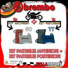 BRPADS-6349 KIT PASTIGLIE FRENO BREMBO KTM SUPERMOTO 2005- 950CC [SC+TT] ANT + POST