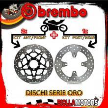 BRDISC-3015 KIT DISCHI FRENO BREMBO DUCATI MONSTER S 2014- 1200CC [ANTERIORE+POSTERIORE] [FLOTTANTE/FISSO]
