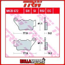 MCB672SI PASTIGLIE FRENO POSTERIORE TRW Kram-it GS 250 1997- [ORGANICA- ]
