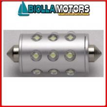2161606 FESTOON - SILURO 12V (IP66) WHITE LED Lampadina Siluro Stagna IP67 LED