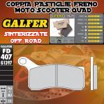 FD407G1397 PASTIGLIE FRENO GALFER SINTERIZZATE ANTERIORI KTM 525 XC 08-