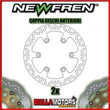 2-DF5218A COPPIA DISCHI FRENO ANTERIORE NEWFREN KAWASAKI ZL 400cc ELIMINATOR 1988- FISSO
