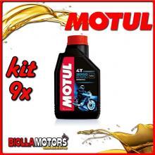 KIT 9X LITRO OLIO MOTUL 3000 4T 20W50 MINERALE PER MOTORI 4T - 9x 107318