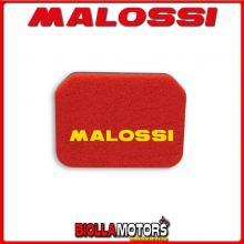 1414513 SPUGNA FILTRO ARIA MALOSSI SUZUKI BURGMAN AN - BUSINESS 400 4T LC DOPPIO STRATO DOUBLE RED SPONGE PER FILTRO ORIGINALE -
