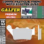 FD165G1651 PASTIGLIE FRENO GALFER PREMIUM POSTERIORI BENELLI 570 SUPERMOTO 08-