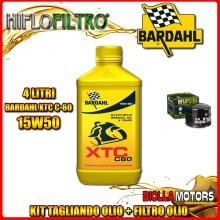 KIT TAGLIANDO 4LT OLIO BARDAHL XTC 15W50 MOTO GUZZI 850 Le Mans I,II,III 850CC 1975-1983 + FILTRO OLIO HF552