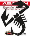 21582 ADESIVO ABARTH PREFUSTELLATI HQ SCORPIONE NERO 240 MM