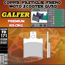 FD171G1651 PASTIGLIE FRENO GALFER PREMIUM ANTERIORI MBK MOTOBEKANE MACH G/R 02-
