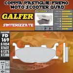FD169G1375 PASTIGLIE FRENO GALFER SINTERIZZATE ANTERIORI YAMAHA XP 500 T-MAX BLACK MAX 06-07