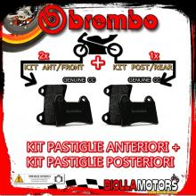 BRPADS-54088 KIT PASTIGLIE FRENO BREMBO MOTO GUZZI V7 CLASSIC 2009- 750CC [GENUINE+GENUINE] ANT + POST