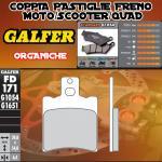 FD171G1054 PASTIGLIE FRENO GALFER ORGANICHE ANTERIORI MBK MOTOBEKANE MACH G/R 02-