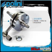 210.0070 ALBERO MOTORE POLINI CORSA 54 PIAGGIO VESPA 50 2T HP