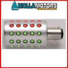 2165527 BAY15D 12/24V (IP66) RED/GREEN LED Lampadine Bipolari Stagne IP67 Color-LED BA15D