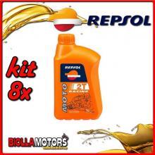 KIT 8X LITRO OLIO REPSOL MOTO RACING 2T 1LT - 8x RP145P51IT