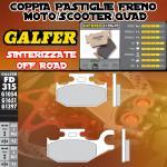 FD315G1397 PASTIGLIE FRENO GALFER SINTERIZZATE POSTERIORI BENELLI CAFFE NERO DER. 08-