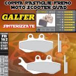 FD162G1380 PASTIGLIE FRENO GALFER SINTERIZZATE ANTERIORI BENELLI VELVET DUSK 400 03-