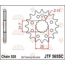 JTF565.13SC PIGNONE IN ACCIAIO JT KAWASAKI KX 250 1999-2008 Passo 520 - 13 denti