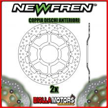 2-DF5260AF COPPIA DISCHI FRENO ANTERIORE NEWFREN HONDA CBR 1000cc RR FIREBLADE 2008-2013 FLOTTANTE