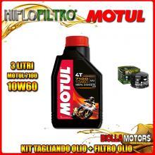KIT TAGLIANDO 3LT OLIO MOTUL 7100 10W60 GILERA 800 GP / GP Centenario 800CC 2008-2014 + FILTRO OLIO HF565