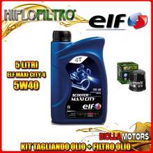 KIT TAGLIANDO 5LT OLIO ELF MAXI CITY 5W40 HONDA CBR1000 F Hurricane 1000CC 1987-1995 + FILTRO OLIO HF303