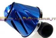 STR-332.00/BL FILTRO HELIX BLU LED BLU ATTACCO 35 - 38 DRITTO + CURVA 90 °