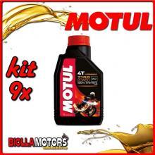 KIT 9X LITRO OLIO MOTUL 7100 4T 20W50 100% SINTETICO PER MOTORI 4T - 9x 104103