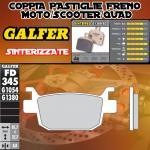 FD345G1380 PASTIGLIE FRENO GALFER SINTERIZZATE POSTERIORI HONDA SH 125 i SCOOPY (D-D) 09-12