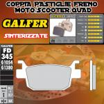 FD345G1380 PASTIGLIE FRENO GALFER SINTERIZZATE POSTERIORI HONDA FES 250 FORZA X / Z 05-