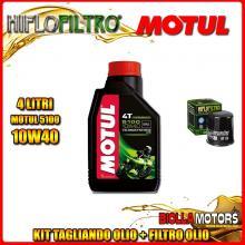 KIT TAGLIANDO 4LT OLIO MOTUL 5100 10W40 KTM 640 Duke 2nd Oil 640CC - + FILTRO OLIO HF156