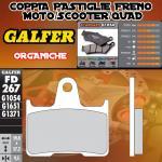 FD267G1054 PASTIGLIE FRENO GALFER ORGANICHE POSTERIORI SUZUKI GSF 650 BANDIT /S IZQ. 05-05