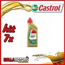 KIT 7X LITRO OLIO CASTROL POWER 1 SCOOTER 4T 5W40 - 7x CA154F88