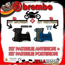 BRPADS-4246 KIT PASTIGLIE FRENO BREMBO KTM SUPERMOTO 2005- 950CC [GENUINE+TT] ANT + POST