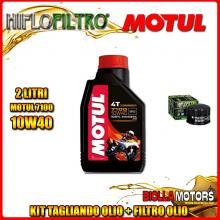 KIT TAGLIANDO 2LT OLIO MOTUL 7100 10W40 GILERA 500 Fuoco / LT 500CC 2007-2015 + FILTRO OLIO HF184