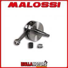 5316517 ALBERO MOTORE MALOSSI VESPA ET3 PRIMAVERA 125 2T BIELLA 105 - SP. D. 15 CORSA 41 MM - CONO 20 -
