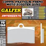 .FD068G1370 PASTIGLIE FRENO GALFER SINTERIZZATE ANTERIORI INDIAN MOTORCYCLE CHIEF BLACKHAWK DARK 11-
