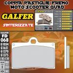 FD068G1370 PASTIGLIE FRENO GALFER SINTERIZZATE ANTERIORI SACHS ROADSTER s-805 03-