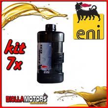 KIT 7X LITRO OLIO ENI FORK OIL 5W FORCELLA - 7x E142591