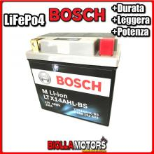 LTX14AHL-BS BATTERIA LITIO BOSCH YTX14AHL-BS LifePo4 0986122622 YTX14AHLBS MOTO SCOOTER QUAD CROSS
