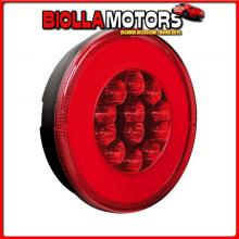 41536 LAMPA O-LED, FANALE ROTONDO RETRONEBBIA E POSIZIONE, 12/24V