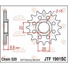 JTF1901.14SC PIGNONE IN ACCIAIO JT BETA RR 250 2013-2017 Passo 520 - 14 denti