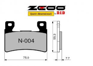 45N00401 PASTIGLIE FRENO ZCOO (N004 EX C) HONDA CBR 600 F 2001-2006 (ANTERIORE)