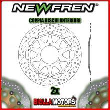2-DF5212AF COPPIA DISCHI FRENO ANTERIORE NEWFREN HONDA CBR 1000cc RR 2006-2007 FLOTTANTE