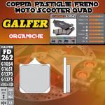 FD262G1054 PASTIGLIE FRENO GALFER ORGANICHE ANTERIORI MV AGUSTA F-4 1000 06-06